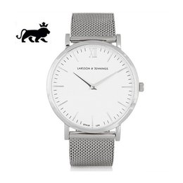Wholesale Thin Watch Brands - 2017 Top Luxury brand LJ Watches men Stainless Steel Mesh strap Quartz-watch Ultra Thin Dial Clock Women's Watch lover series