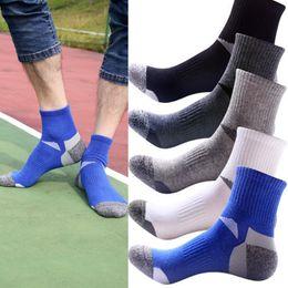 Wholesale Mens Short Yoga - New Mens High Quality Cotton Socks Deodorant movement male socks high elite basketball football soccer sports crew sock Short Tube Concise