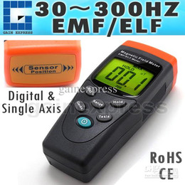 Wholesale Digital Gauss Meter - T91 Portable Digital EMF   ELF Single Axis Gauss Meter Gaussmeter Detector Electromagnetic Field mG 30-300Hz Made in Taiwan