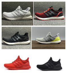 Wholesale E Boost - All Black RED Ultra Boost 2.0 Running Shoes Men Women White Black Ultraboost 2 Athletic Shoes Unisex Sports SHOES Sneakers eur 36-45
