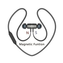 Wholesale Ear Force - BX325 Magnetic force Bluetooth 4.0 Stereo Earphone Headphone Fashion Sport Exercise Running Headsets Studio Music Earphone Retail PPackage
