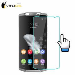 2019 pantallas de los teléfonos celular al por mayor Al por mayor-oukitel K10000 vidrio templado 9H película de protector de pantalla de alta calidad para oukitel K10000 teléfono celular + envío gratuito rebajas pantallas de los teléfonos celular al por mayor