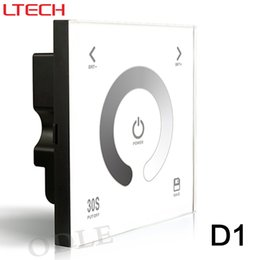 Wholesale Touch Wall Dimmer - Free shipping D1 Touch Led Controller DC12-24V 4A*3CH output Glass Wall Mount Touch Panel LED Dimmer Lighting Controller