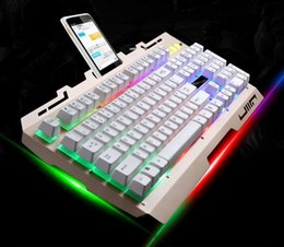Wholesale Mechanical Suspension - Gaming Keyboard Mouse Combos Backlights LED USB Wired Game Keyboard For Computer Suspension Type Mechanical Keyboard