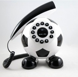 Wholesale Phones Landline - Footbal home phone telephone fixe sans fil landline phone telefonos de casa telephone home mini telephone arts retro telephones