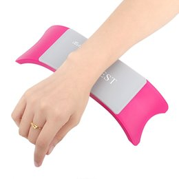 Wholesale Manicure Equipment Wholesale - Wholesale- Pillow for Manicure Nail Art Pillow Hand Holder Cushion Silicone Cushion Nail Arm Rest Manicure Accessories Tool Equipment