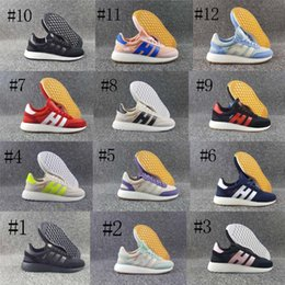 Wholesale New Fashion Canvas Shoes - 2017 New Arrival Top Quality Iniki Runner Boost Sneakers Fashion Iniki Boost Women Men Red Blue Grey Leather Sports Running Shoes Size 36-44