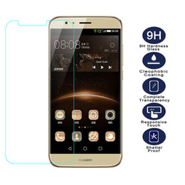 Wholesale G7 G8 - Wholesale-For Huawei G8 GX8 Tempered Glass Original 9H High Quality Protective Film Explosion-proof Screen Protector for G7 plus D199