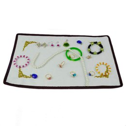 Wholesale Prop Store - Jewelry Display Wholesale 10 Pcs White Reversible 42cm*23cm Jewelry Counter Display Cloth Store Fabric Props