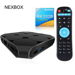 Wholesale Os Media Player - NEXBOX A95X R2 RK3328 Quad core Android 7.1 OS Android tv box USB 3.0 3D 4K Media Player Smart tv box
