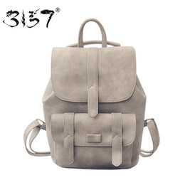 Wholesale Cute Backpacks For High School - Wholesale- 3157 fashion women leather backpack for teengaers girls famous designer cute school bags ladies high quality female backpacks