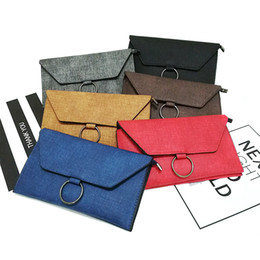 Wholesale Double Clutching - 2017 Fashion Bags Totes Messenger Bag Female Shoulder bags Clutch Totes 2017 Korean double envelope lady