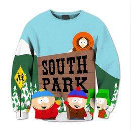 Wholesale Anime Cloths - Hoodies Anime South Park 3D Hip Hop Sweatshirt Fashion Brand New Casual Slim Fit Mens Hoodies Cute Childhood Top Cloth 17310