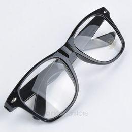 Wholesale Glasses Nerd Style - Wholesale-Fashion Summer Style Candy Color Glasses Unisex Clear Lens Nerd Geek Glasses Men Women Eyewear