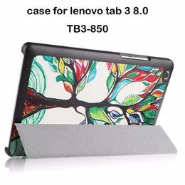 Wholesale ipad cases stylus - Wholesale- For Lenovo tab 3 8 8.0 TB3-850F 850M 850X 8'' tablet case for lenovo tab 3 tablet cover cases+screen protector+stylus
