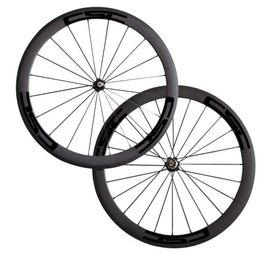 Wholesale Cheap Carbon Bike Wheels - 700C 50mm Carbon Clincher Tubular Road Bike Bicycle Wheels Super Light Carbon Wheels Racing Wheelset Cheap Wheel