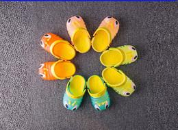 Wholesale Slipper Caterpillar - 2017 Children's cool sandals summer caterpillar shoes men and women children's shoes baby flashing lights sandals hole slippers summer