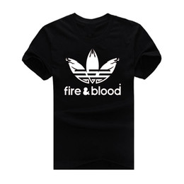 Wholesale Retro Fire Blood New Fashion Men s T shirts O Neck Short Sleeve Tshirt Cotton t shirts Man Clothing