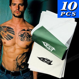 Wholesale Thermal Copier Tattoo Stencils - 10PC 4 Layers Tattoo Stencil Transfer Paper Spirit Thermal Carbon Tracing Copier Kit