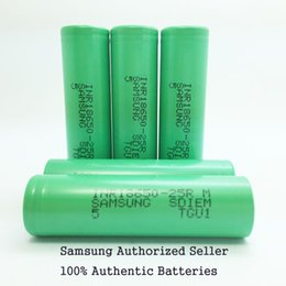 Wholesale Lithium Batteries Wholesale - Authentic 2500mah 18650INR 25R M 18650 Battery With Samsung Lithium Battery MSDS Report - 2500mah 20A Rechargeable Batteries for 18650 Ecig