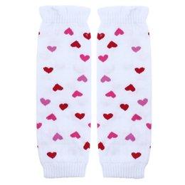 Wholesale Love Heart Girl Legging - Wholesale- D6li 2016 New Arrival 1 Pair Baby Girl Loving Heart Kneepad Socks Leg Warmer Feb29 RV