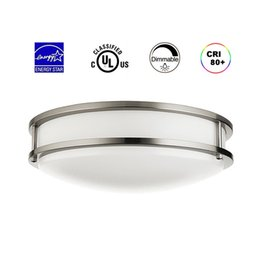 Wholesale 12 Led Downlight - 12 Inch 20W Dimmable LED Downlight 4000K Wet Location 120°Beam Angle, UL ENERGY STAR Listed LED Flush Mount Ceiling Light