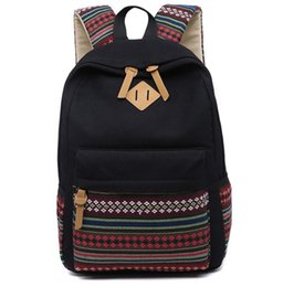 Wholesale Cute Bag For School Man - Korean Canvas Printing Backpack Women School Bags for Teenage Girls Cute Bookbags Vintage Laptop Backpacks Female