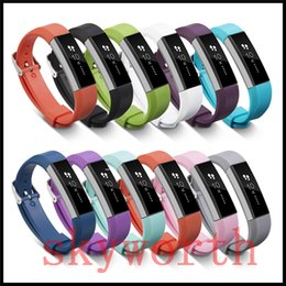 Wholesale heart rate belt - For Fitbit Alta HR Heart Rate Smart Wristband Bracelet Wearable Belt Strap For Fitbit Silicone Replacement Band