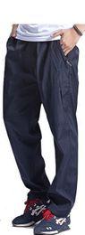 Wholesale Wool Fleece Pants - Wholesale- 2017 New Autumn Winter Warm Fleece Pants Mens Thick Wool Trousers Man's Elastic Waist Heavyweight Pants Male With Zipper Pocket