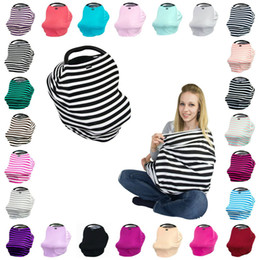 Wholesale Stroller Covers - Fashion baby stroller brand hood Baby Car Seat Covers Breastfeeding Nursing cover towel Cover the wind the sun wipes 13 design
