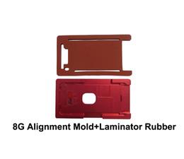 Máquina de laminação oca on-line-Molde de metal de alumínio para o vidro do iphone 8G 8plus com quadro da moldura OCA molde de estratificação com a entulho para a máquina do laminador de OCA