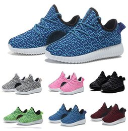 Wholesale Mesh Booties - 2017 New Kids West 350 Boost Sneakers Booties Baby 350 Shoes Cheap Boys Girls Breathable Running Shoes Size 24-35