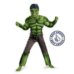 Wholesale Costume Play - Factory Direct Selling Boys Hulk Muscle Cosplay Clothing Kids Avengers Superhero Movie Role Play Party Halloween Purim Costumes