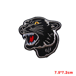 Wholesale Big Tiger - new arrive HUGE BIG BLACK TIGER PANTHER HEAD Embroidered Iron on Patch