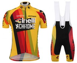 Wholesale Cycling Jerseys Bib Shirts - 2017 New CINELLI Cycling Jersey Men's Short Sleeve Bicycle Cycling Clothing Bike Wear Shirts Outdoor Maillot Ropa Ciclismo Mtb GEL bib short