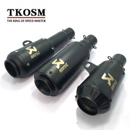 Wholesale exhaust for scooter - TKOSM 2017 New Motorcycle Motocross Akrapovic Exhaust Muffler Pipe Scooter for ATV CBR CBR125 CBR250 CB400 CB600 YZF FZ400 Z750 Z800 Z1000