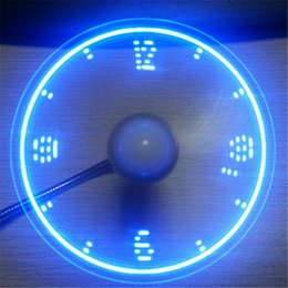 Wholesale Wholesale Advertising Clocks - 2017 new usb imitation clock fan LED flash word fan hose snake-shaped mini fan creative gift advertising factory direct DHL free shipping