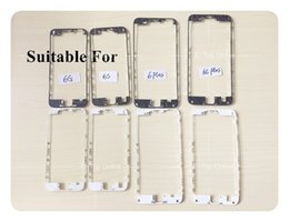 """Wholesale Iphone 4s Middle Frame Assembly - White Black LCD Touch Screen Assembly Middle Bezel Housing Frame With Adhesive Glue For IPhone 5 5S 5C 4 4s 6 6S 4.7"""" 6g Plus 5.5' ;DHL free"""