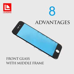 Wholesale Middle Frame Bezel - Front Touch Screen Panel Outer Glass Lens with Cold Press Middle Frame Bezel Screen for iPhone 6 6s 6 plus 6s plus