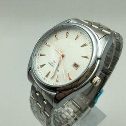 Wholesale Mens Watches Date Waterproof - Simple Style AAA Brand Luxury Mens Casual Stainless steel Watches Charm Bracelet Watch Gift Male Clocks Fashion Waterproof Quartz Watch Men