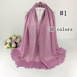Wholesale scarves shimmer - Wholesale- Viscose Lurex Tassels Shimmer Plain Glitter Long Shawls And Scarves Head Wraps Muslim Hijab Women Scarves Luxury Scarf
