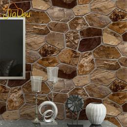 2019 carta da parati di pietra 3D Stereo Stone Pattern Wallpaper Simulazione Pietre Personalità Cafe Bar Restaurant Carta da parati in PVC per pareti Papel De Parede 3D sconti carta da parati di pietra