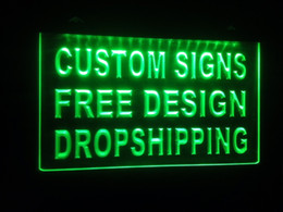 Wholesale Red Shopping - design your own Custom ADV LED Neon Light Sign Bar open Dropshipping decor shop crafts led