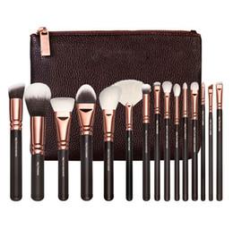 Wholesale Makeup Brush Set 15 - Brush 15 PCS Face Powder Eyeshadow Foudation Brushes Professional Luxury Set Make Up Tools Kit Makeup Set