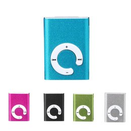 Wholesale Usb Micro Sd Metal Reader - HOT SALE fashion Mini Mini Clip Metal USB MP3 Player Support Micro SD TF Card Music Media Slick stylish design Sport Compact.Free shipment.