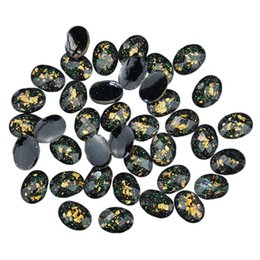 Wholesale Diy 3d Resin Nail Art - Wholesale- 10pcs lot 3d nails art decorations nail studs round black resin drill acrylic DIY accessories for nails cellphone PJ186