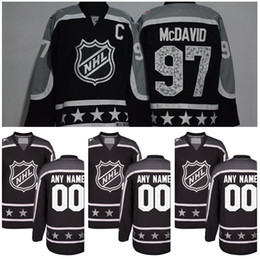 Wholesale 2017 All Star Hockey Jersey Ice All Star Pacific Black Joe Pavelski Drew Doughty Ryan Kesler Brent Burns Connor McDavid Men