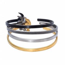 Wholesale Silver Bangel - Fashion New Style Titanium Steel Hammer Restoring Ancient Ways Men's Bracelet Bangel Round Hammer Cuff Bracelet Bangles