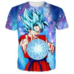 Wholesale Dragon Ball Z Frieza - Dragon Ball Z T shirt Super Saiyan Son Goku Gohan Vegeta Frieza Freezer 3D Men Summer T-shirts Monkey King Kakarotto Tops Tee