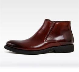 Wholesale Classic Leather Boots For Men - Genuine Leather Men Boots shoes Fashion Classic Boots For Men Winter men's Ankle Boots
